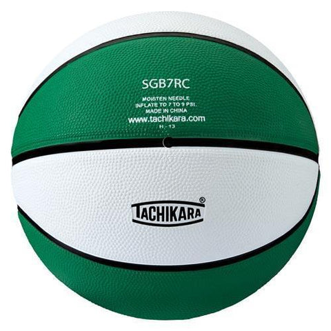 Tachikara Rubber Basketball (Intermediate) (Green/White) - Ohio Fitness Garage - Olympia -Rubber Basketballs (Tachikara Two-Color) Equipment