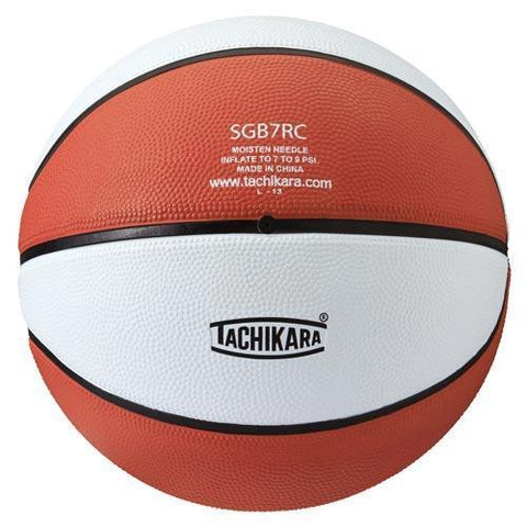 Tachikara Rubber Basketball (Intermediate) (Orange/White) - Ohio Fitness Garage - Olympia -Rubber Basketballs (Tachikara Two-Color) Equipment