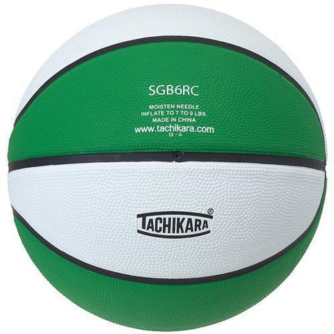 Tachikara Rubber Basketball (Official) (Green/White) - Ohio Fitness Garage - Olympia -Rubber Basketballs (Tachikara Two-Color) Equipment