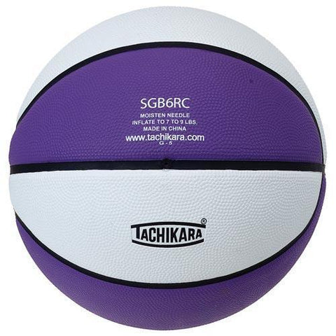 Tachikara Rubber Basketball (Official) (Purple/White) - Ohio Fitness Garage - Olympia -Rubber Basketballs (Tachikara Two-Color) Equipment