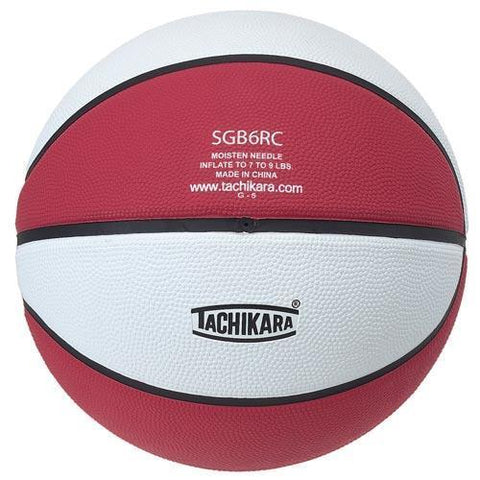 Tachikara Rubber Basketball (Official) (Red/White) - Ohio Fitness Garage - Olympia -Rubber Basketballs (Tachikara Two-Color) Equipment