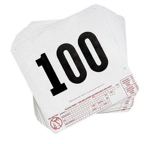 Tear Tag Numbers (1-100) - Ohio Fitness Garage - Olympia - Equipment