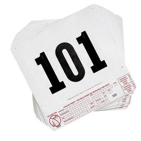 Tear Tag Numbers (101-200) - Ohio Fitness Garage - Olympia - Equipment