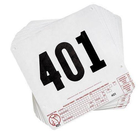 Tear Tag Numbers (401-500) - Ohio Fitness Garage - Olympia - Equipment