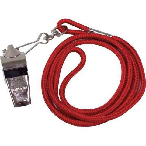 Whistle/Lanyard Combo - Red - Ohio Fitness Garage - Olympia -Official's Whistle/Lanyard Combinations Equipment