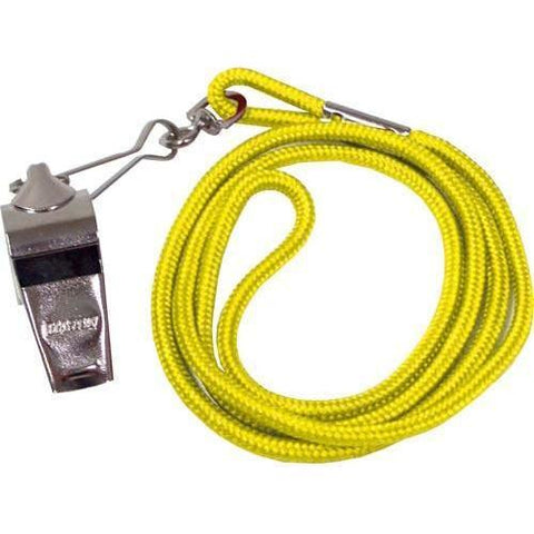 Whistle/Lanyard Combo - Yellow - Ohio Fitness Garage - Olympia -Official's Whistle/Lanyard Combinations Equipment