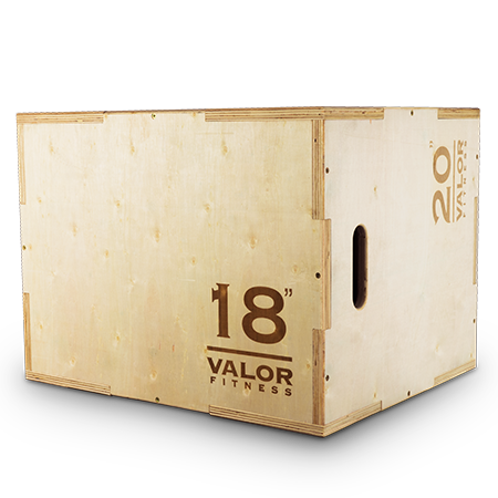 "Wooden 3 Way Plyo Jump box 18/20/24"" - Valor Fitness"