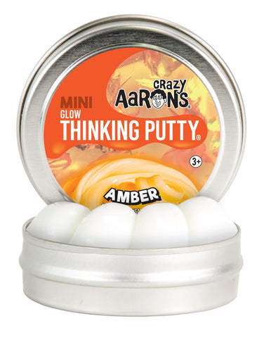 "2"" Amber- Glow in the Dark- Crazy Aaron's Thinking Putty"
