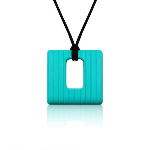 Square Textured Chew Pendant by Siliconies