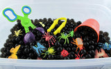 Bug Sensory Bin Duo with Water Beads and Green Jelly Goo- 2 in 1 Kit