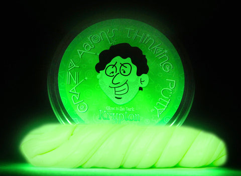 "2"" Krypton- Glow in the Dark- Crazy Aaron's Thinking Putty"