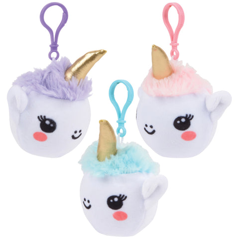 Squish Unicorn Plush Clip