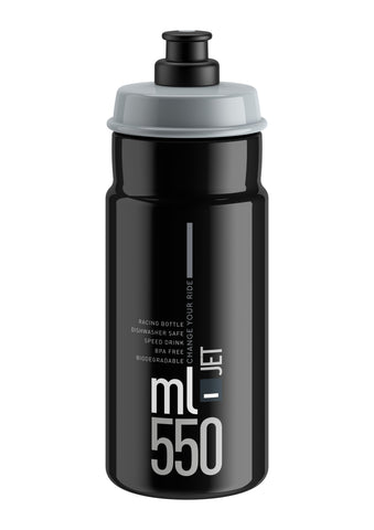 JET BLACK grey logo 550 ml