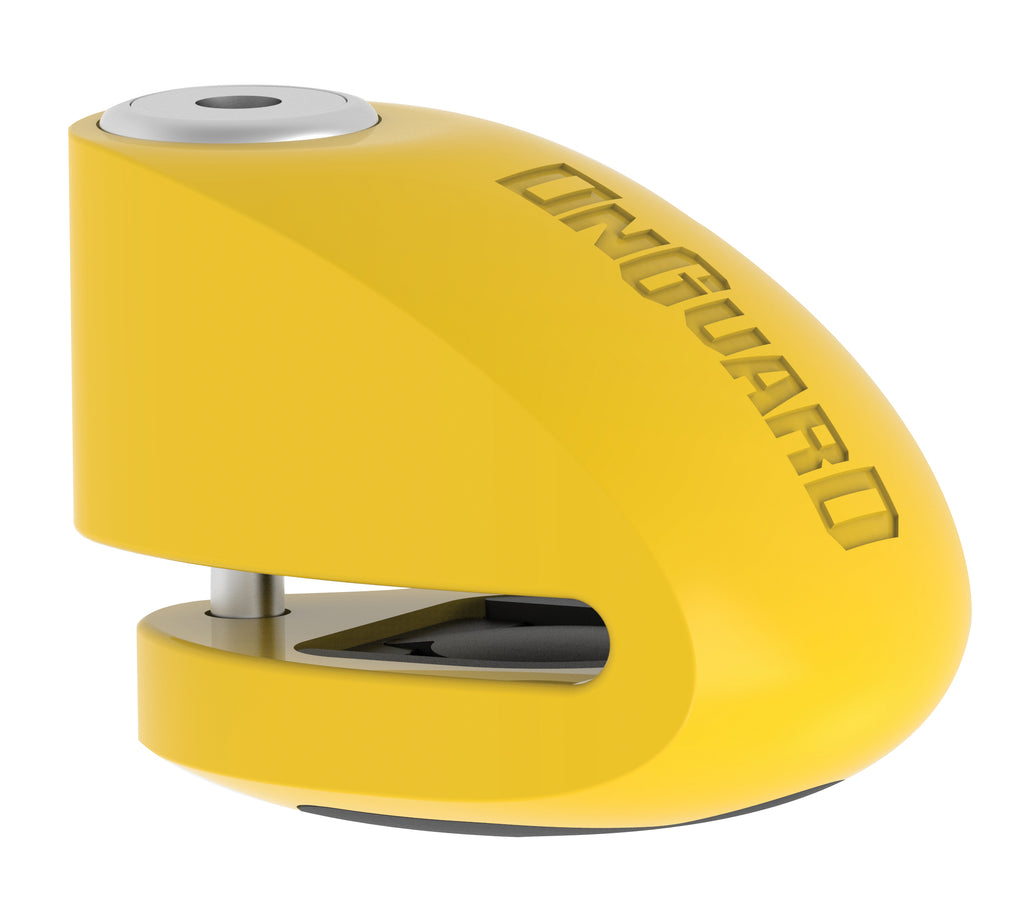 SMART ALARM DISC LOCK - YELLOW, 6MM PIN (8258)