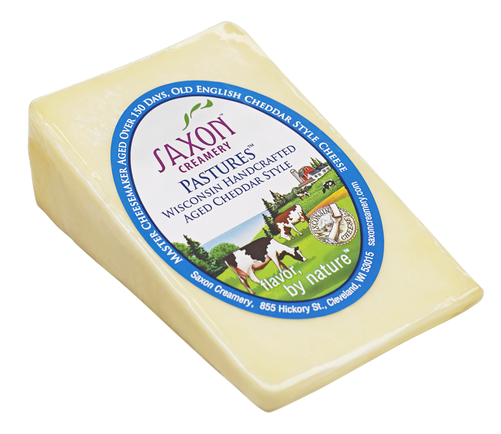 Saxon Creamery Pastures English Cheddar available at GiftBaux.com