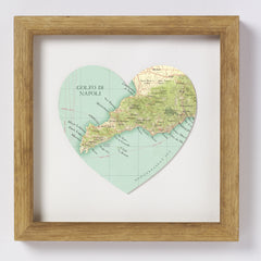 Amalfi Coast Map Heart