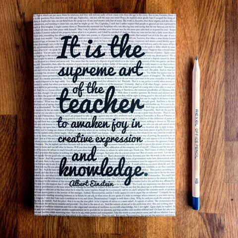 Teacher Gift Einstein Quote Journal