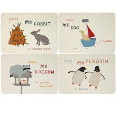 Animal Characters Placemats set of 4