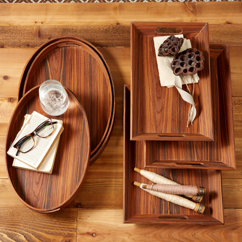 Rosewood Gallery Trays - Set of 3