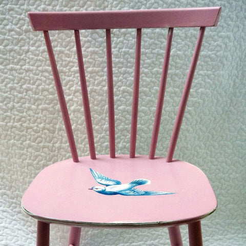 Upcycled Pink Children's Wooden Heirloom Nursery Chair