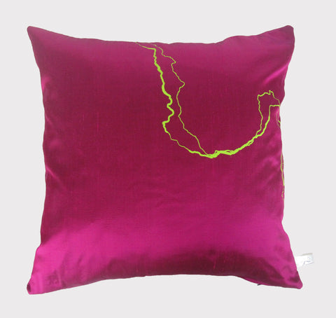 Lime on Fuchsia Cushion