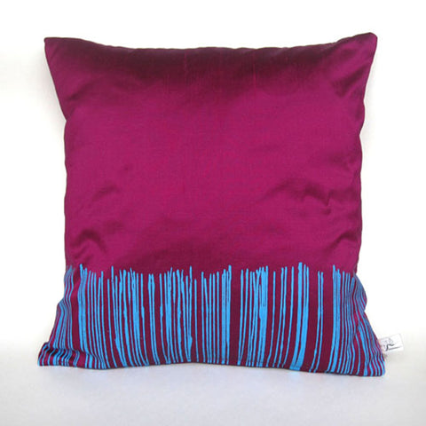 Blue on Fucshia Cushion