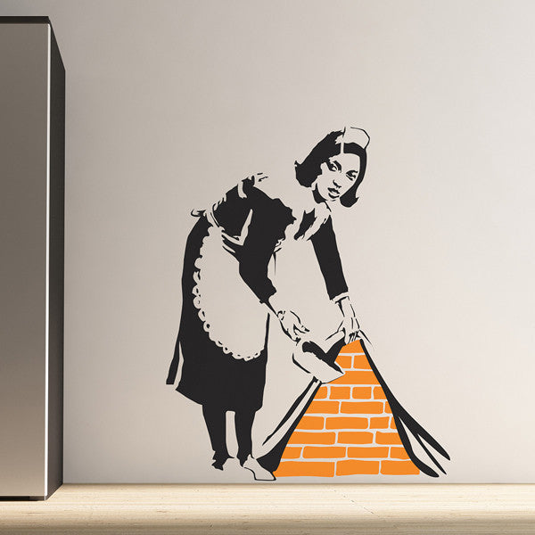 Banksy Maid Wall Sticker
