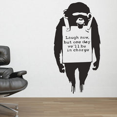 Banksy Monkey Sign Wall Sticker