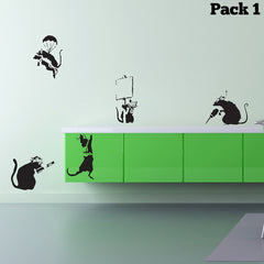 Banksy Rat Pack 1 Wall Sticker