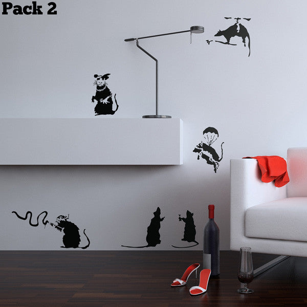 Banksy Rat Pack 2 Wall Sticker