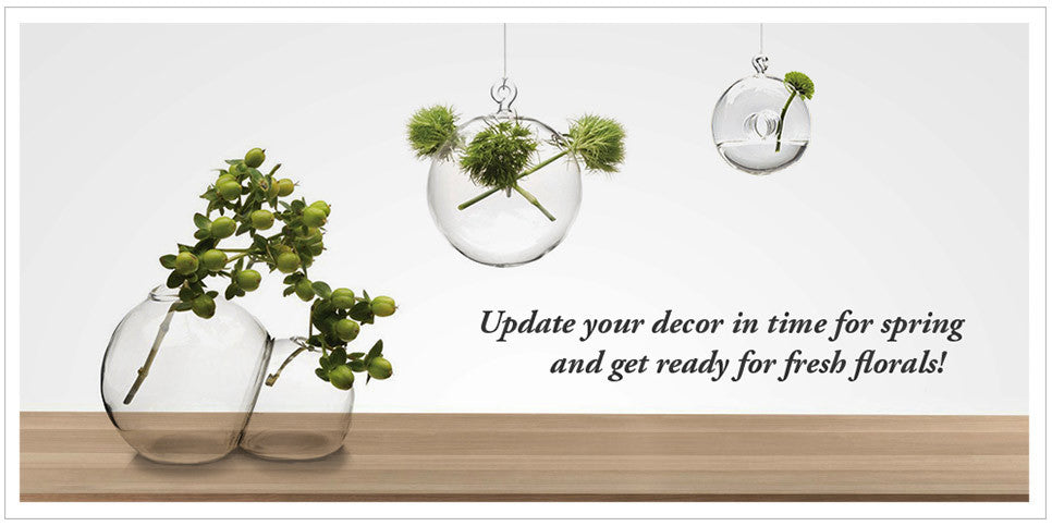 Update your decor in time for Spring and get ready for fresh florals.