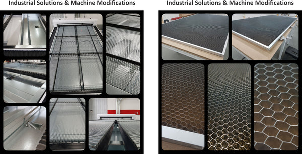 industrial solutions machine modification honeycomb table sheet metal fabrication