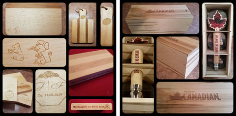 corporate promotional promotion wood boxes cutting boards cheese board custom logo engraved