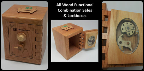 corporate promotional promotion wooden safe wood lock box piggy bank custom coin slot logo engraved