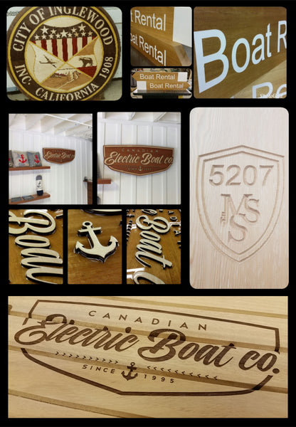 Custom Signage 3D painted engraved CNC router logo sign