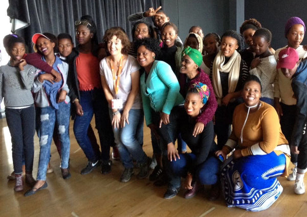 Children from eKhaya eKasi practice theater at ArtScape Theatre in Cape Town