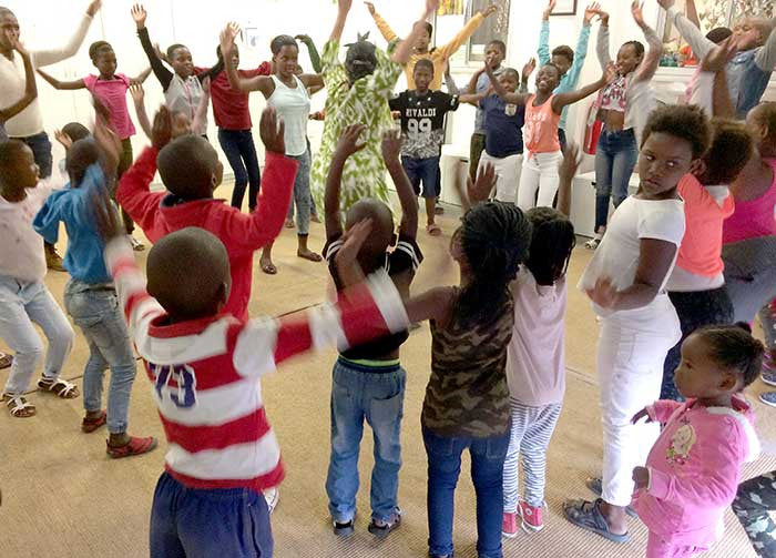 Children Expressive Movement Education After School Township South Africa