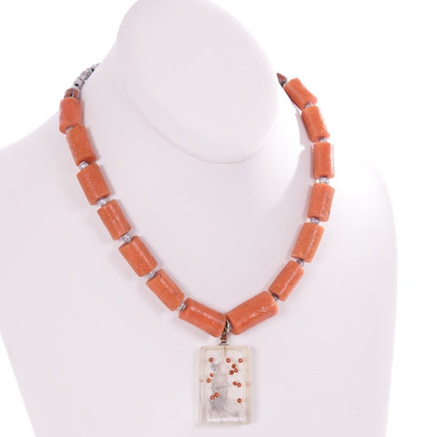 fair trade nigerian beads necklace