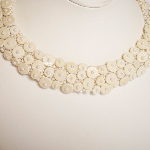Eggshell Three Row Choker