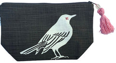 Makeup Bag - Bird - Gray