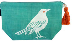 Makeup Bag - Bird - Teal