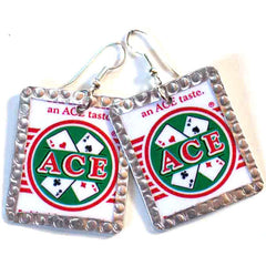 Aces Image Earrings by Beverly Price