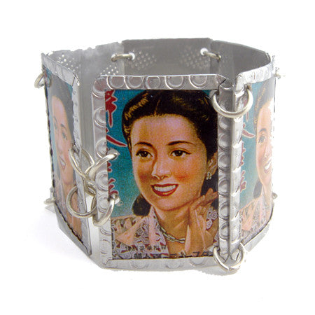 Asian Lady Image Bracelet by Beverly Price