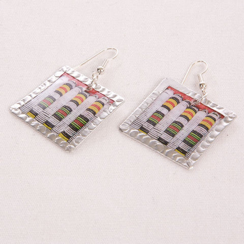 Beadwork Image Earrings by Beverly Price