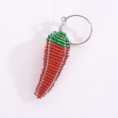 Beaded Chili Pepper Keychain