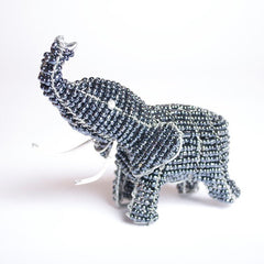 Bead and Wire Animal Ornament - Elephant