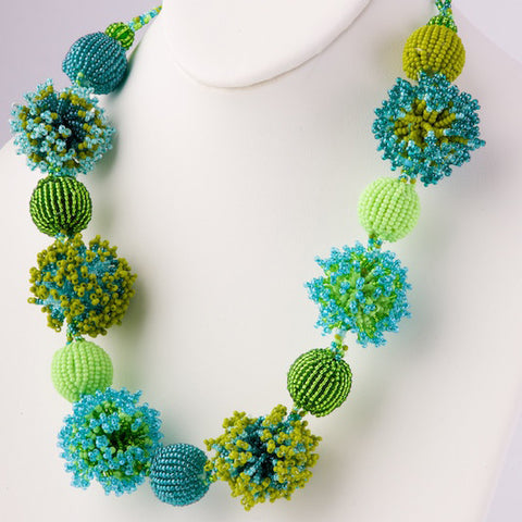 Beaded Fluffy Necklace