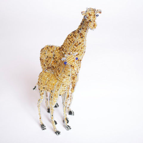 Bead and Wire Animal Ornament - Giraffe