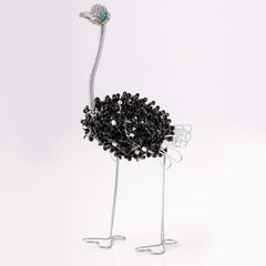 Bead and Wire Animal Ornament - Ostrich