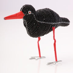 Bead and Wire Bird Ornament -South African Oyster Catcher